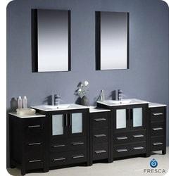 "Fresca Torino 84"" Modern Double Sink Bathroom Vanity with 3 Side Cabinets Type 151631521 Bathroom Vanities in Canada"
