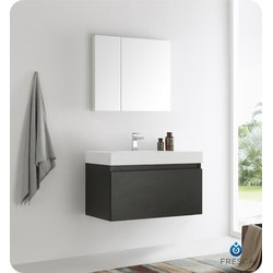 "Fresca Mezzo 36"" Wall Hung Modern Bathroom Vanity Model 151698361 Bathroom Vanities"