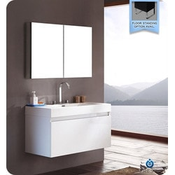 Fresca Mezzo Modern Bathroom Vanity with Medicine Cabinet Type 151631761 Bathroom Vanities in Canada