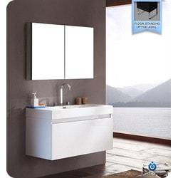 Fresca Mezzo Modern Bathroom Vanity with Medicine Cabinet Type 151631761 Bathroom Vanities in Canada