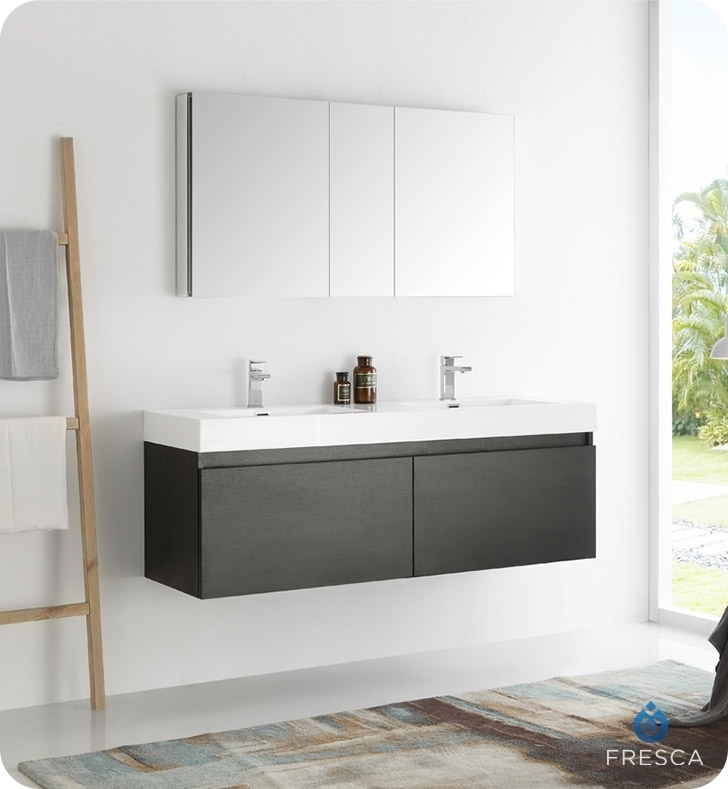 wall hung double sink befon for