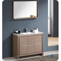 "Fresca Allier 40"" Modern Bathroom Vanity with Mirror Model 151632191 Bathroom Vanities"