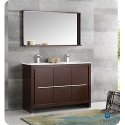 "Fresca Allier 48"" Modern Double Sink Bathroom Vanity Type 151698871 Bathroom Vanities in Canada"