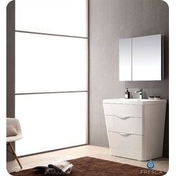 "Fresca Milano 32"" Modern Bathroom Vanity with Medicine Cabinet Model 151632311 Bathroom Vanities"