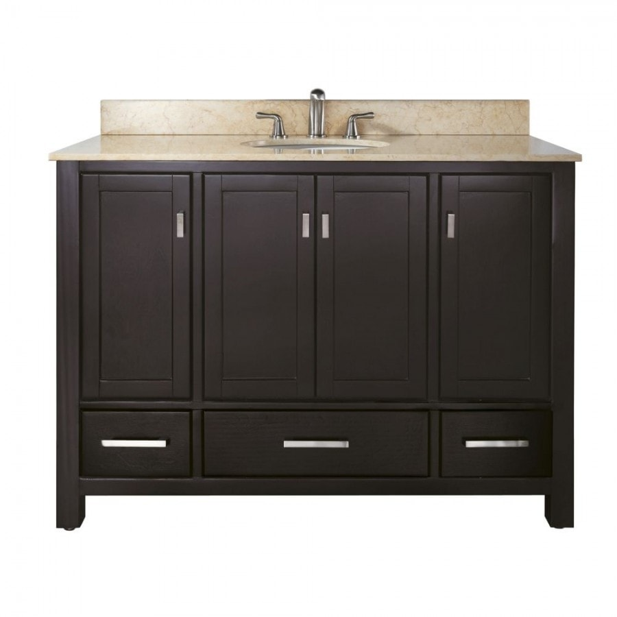 48 in vanity combo galala beige marble counter top undermount sink