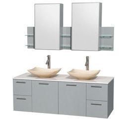 "Wyndham Amare 60"" Double Bathroom Vanity Set Model 151622861 Bathroom Vanities"