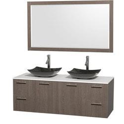 "Wyndham Amare 60"" Double Bathroom Vanity Set Model 151616661 Bathroom Vanities"