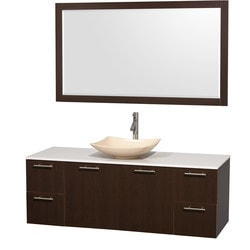 "Wyndham Amare 60"" Single Bathroom Vanity Set with 58"" Mirror Type 151617741 Bathroom Vanities in Canada"