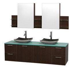 "Wyndham Amare 72"" Double Bathroom Vanity Set Model 151619141 Bathroom Vanities"
