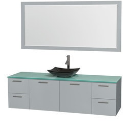 "Wyndham Amare 72"" Single Bathroom Vanity Set with 70"" Mirror Type 151623491 Bathroom Vanities in Canada"