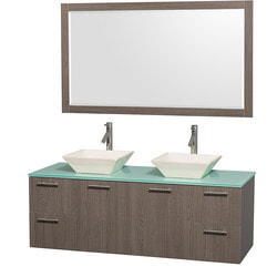 "Wyndham Amare 60"" Double Bathroom Vanity Set Type 151617391 Bathroom Vanities in Canada"