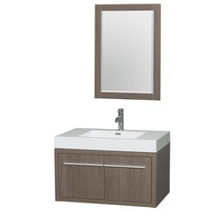 "Wyndham Axa 36"" Single Bathroom Vanity Set with 24"" Mirror Type 151599171 Bathroom Vanities in Canada"