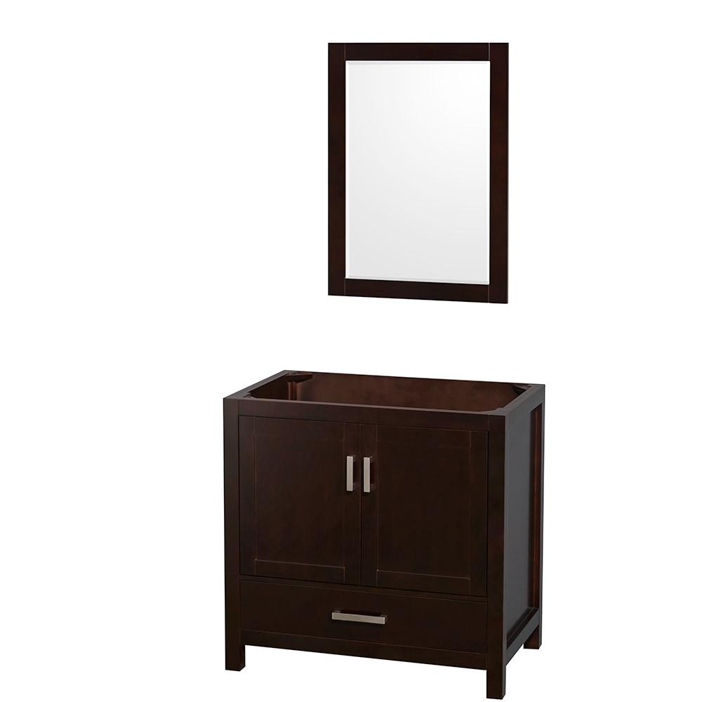 Wyndham collection sheffield 36 inch single bathroom vanity with 24 inch mirror countertop and for 36 inch espresso bathroom vanity