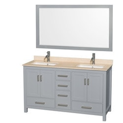 "Wyndham Sheffield 60"" Double Bathroom Vanity Set Type 151584211 Bathroom Vanities in Canada"