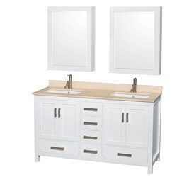 "Wyndham Sheffield 60"" Double Bathroom Vanity Set Type 151582421 Bathroom Vanities in Canada"