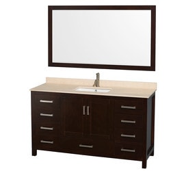 "Wyndham Sheffield 60"" Single Bathroom Vanity Set Type 151582531 Bathroom Vanities in Canada"