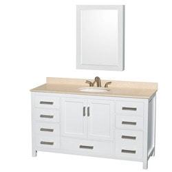 """Wyndham Sheffield 60"""" Single Bathroom Vanity Set Model 151582661 Bathroom Vanities"""
