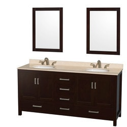"Wyndham Sheffield 72"" Double Bathroom Vanity Set Type 151582801 Bathroom Vanities in Canada"