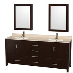"""Wyndham Sheffield 80"""" Double Bathroom Vanity Set Model 151583181 Bathroom Vanities"""