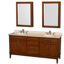 """Wyndham Hatton 72"""" Double Bathroom Vanity Set Model 151579241 Bathroom Vanities"""
