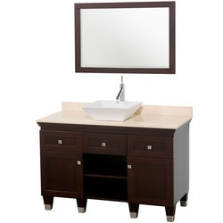 "Wyndham Premiere 48"" Single Bathroom Vanity Set with 24"" Mirror Type 151581321 Bathroom Vanities in Canada"