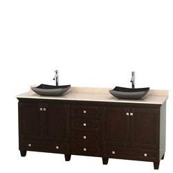 """Wyndham Acclaim 80"""" Double Bathroom Vanity Set Model 151591471 Bathroom Vanities"""