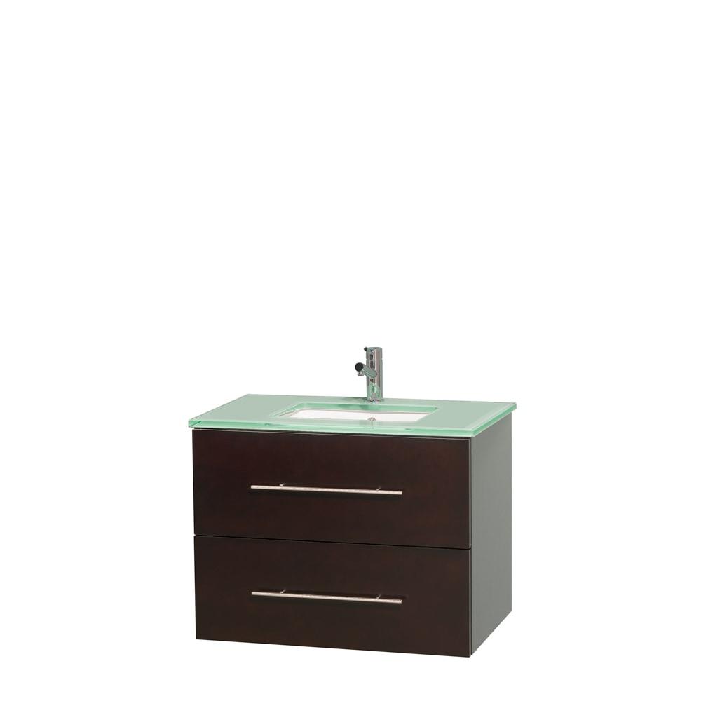 Wyndham collection centra 30 vanity single bathroom for 30 undermount bathroom sink