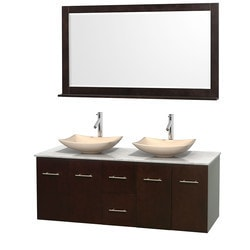 "Wyndham Centra 60"" Vanity Double Bathroom Vanity Set Type 151603611 Bathroom Vanities in Canada"