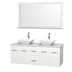 "Wyndham Centra 60"" Vanity Double Bathroom Vanity Set Model 151606381 Bathroom Vanities"
