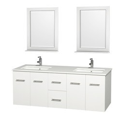 "Wyndham Centra 60"" Vanity Double Bathroom Vanity Set Type 151606581 Bathroom Vanities in Canada"