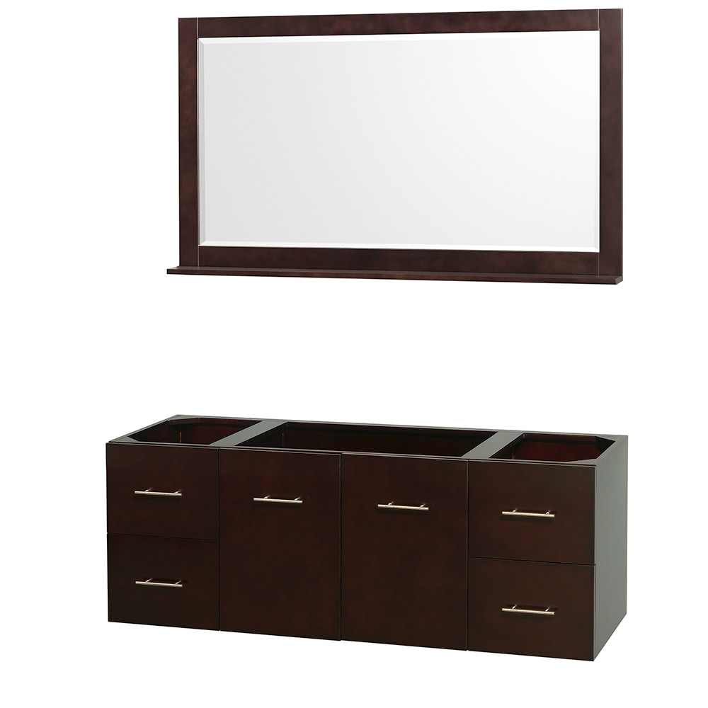 Wyndham Collection Centra 60 Inch Single Bathroom Vanity With 58 Inch Mirror Countertop And