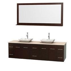 "Wyndham Centra 80"" Double Bathroom Vanity Set Model 151571641 Bathroom Vanities"