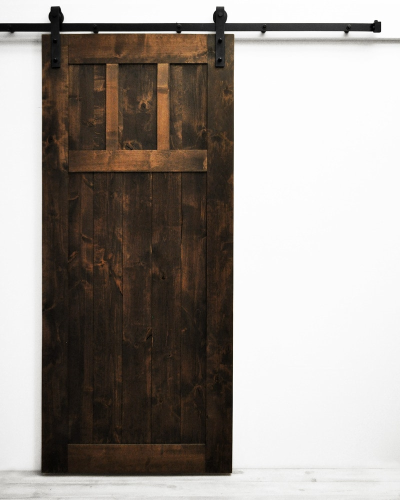 Dogberry collections craftsman barn door alder 36 inches for 40 inch barn door