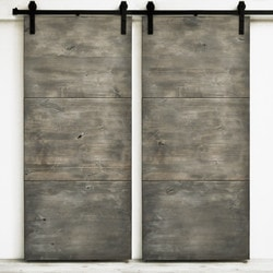 Dogberry s Modern Slab Double Barn Door Model 151466101 Interior Doors