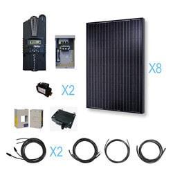 Renogy 2000 Watt 24 Volt Monocrystalline Solar Cabin Kit Model 151643671 Clean Energy Off-Grid Cabin Systems