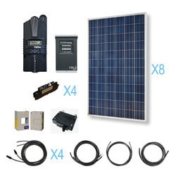 Renogy 2400 Watt 24 Volt Polycrystalline Solar Cabin Kit Model 151643661 Clean Energy Off-Grid Cabin Systems