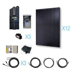 Renogy 3000 Watt 48 Volt Monocrystalline Solar Cabin Kit Model 151644461 Clean Energy Off-Grid Cabin Systems