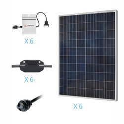 Renogy 1 5KW Grid Tied Polycrystalline Solar Kit Model 151686131 Clean Energy Off-Grid Cabin Systems
