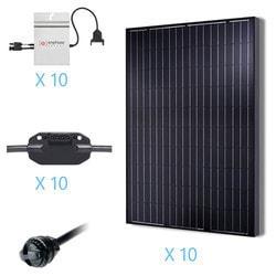 Renogy 2 5KW Grid Tied Monocrystalline Solar Kit Model 151686211 Clean Energy Off-Grid Cabin Systems