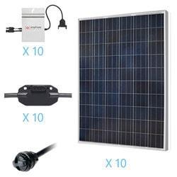 Renogy 2 5KW Grid Tied Polycrystalline Solar Kit Model 151686221 Clean Energy Off-Grid Cabin Systems