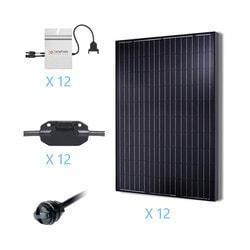 Renogy 3KW Grid Tied Monocrystalline Solar Kit Model 151686231 Clean Energy Off-Grid Cabin Systems