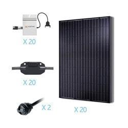 Renogy 5KW Grid Tied Monocrystalline Solar Kit Model 151686271 Clean Energy Off-Grid Cabin Systems