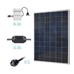 Renogy 6KW Grid Tied Polycrystalline Solar Kit Model 151686301 Clean Energy Off-Grid Cabin Systems