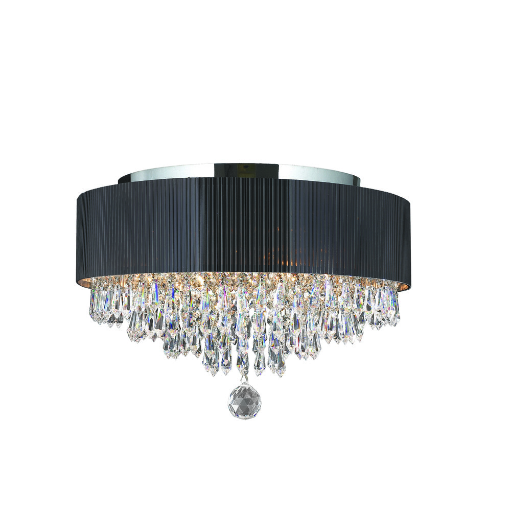 Worldwide lighting corporation flush mount gatsby collection polished chrome indoor flush Home decorators collection 4 light chrome flush mount