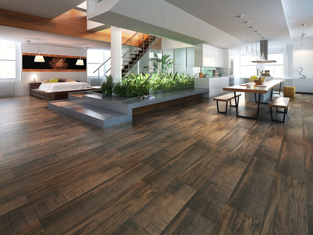 Amazing tile amazing tile porcelain marrone 10 wood for 10 x 10 ceramic floor tile