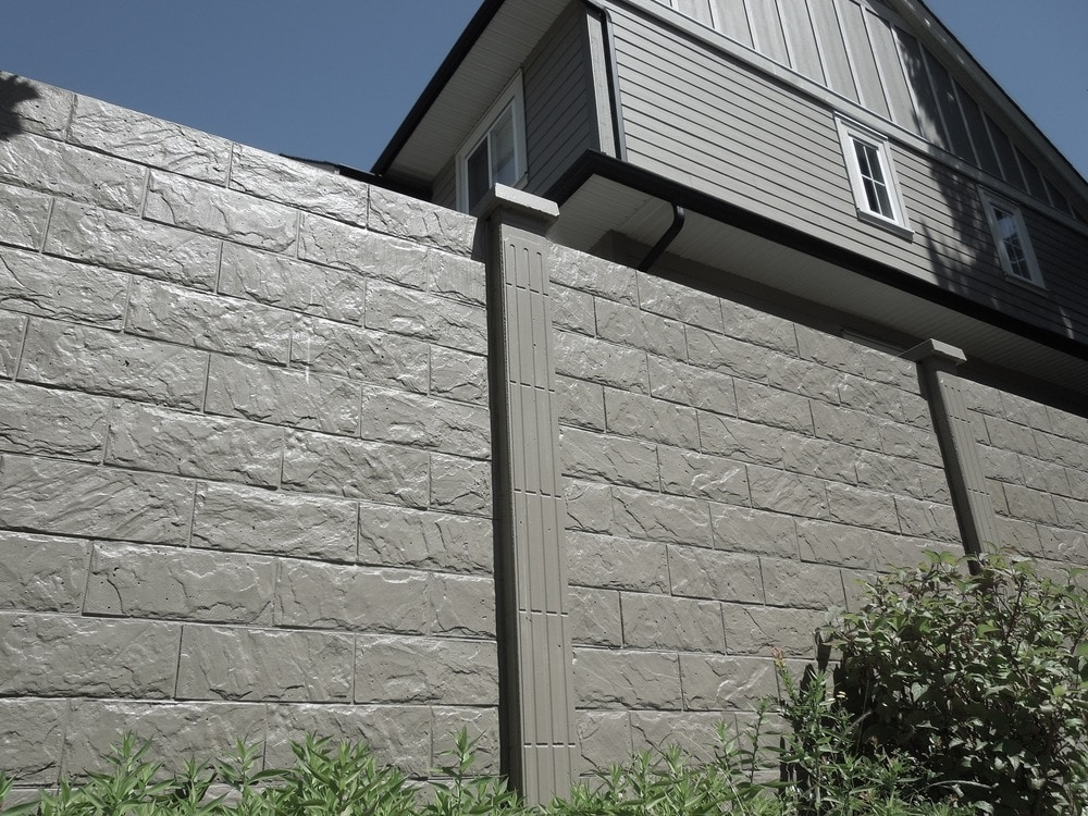 Precast Stone Panels : Natural art concrete fence sound reduction privacy