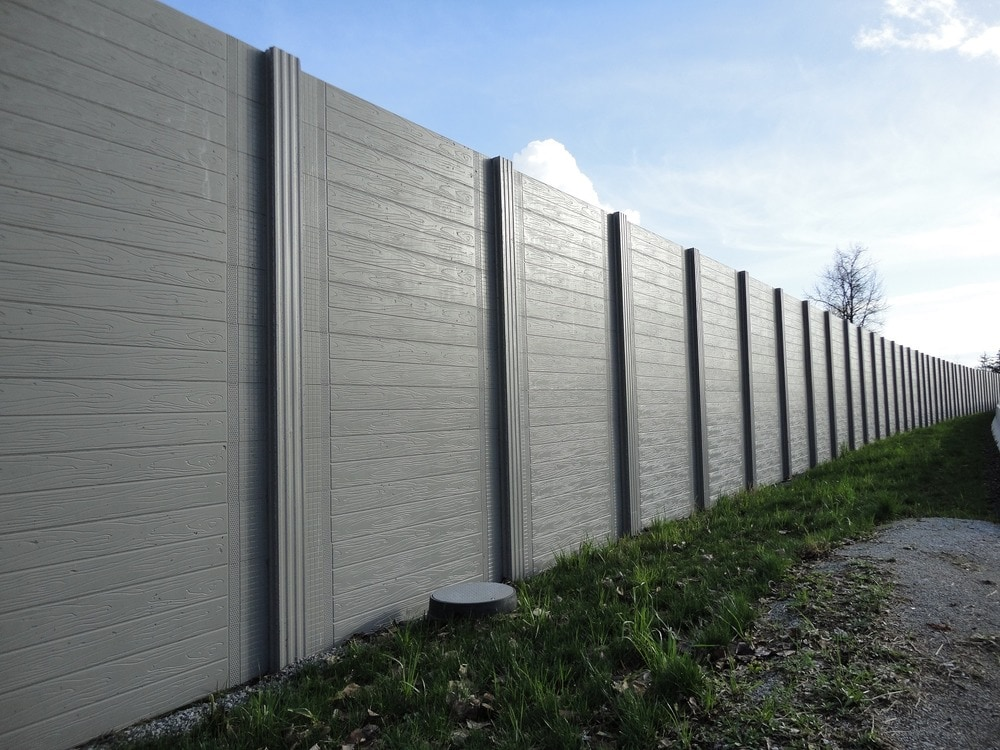 Natural Art Concrete Fence Sound Reduction Privacy