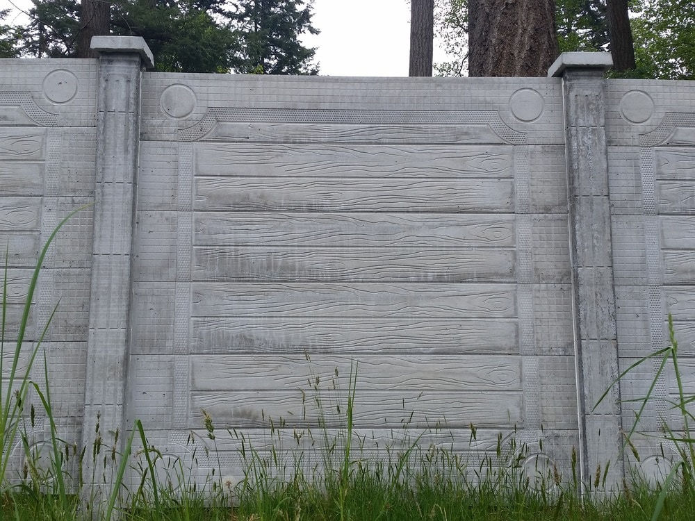 Precast Concrete Fencing : Natural art concrete fence sound reduction privacy