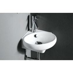 ELANTI 1103 White Corner Wall Mounted Oval Compact Sink Model 151827851 Bathroom Sinks