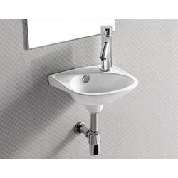 ELANTI 1105 Wall Mounted Oval Compact Sink Model 151827871 Bathroom Sinks